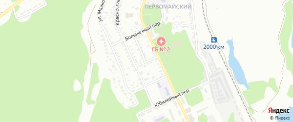 Переулок Максима Горького на карте Миасса с номерами домов