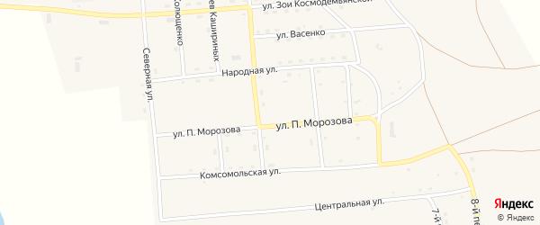 Улица Победы на карте Южного поселка с номерами домов