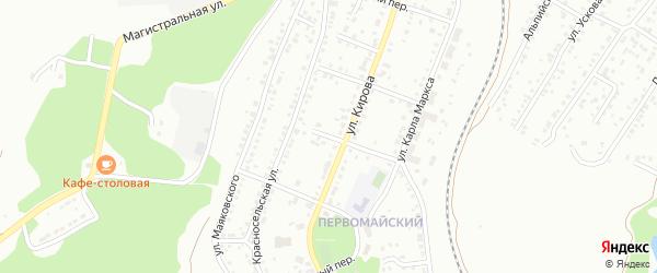 Переулок 8 Марта на карте Миасса с номерами домов