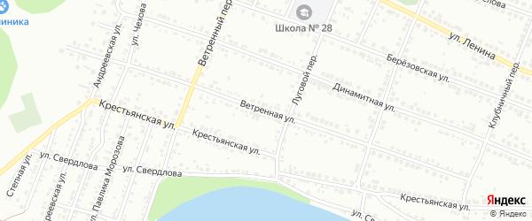 Ветренная улица на карте Миасса с номерами домов