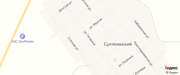 Улица Гагарина на карте Сухтелинского поселка с номерами домов