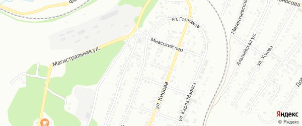 Водонасосный переулок на карте Миасса с номерами домов