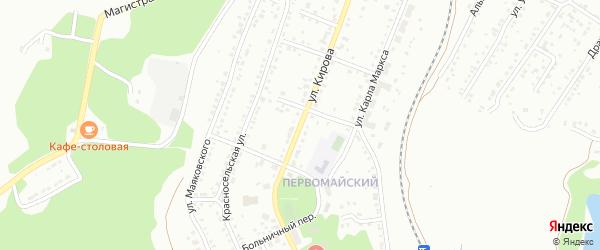 Улица Кирова на карте Миасса с номерами домов