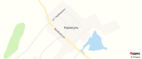 Школьный переулок на карте поселка Каракуля с номерами домов