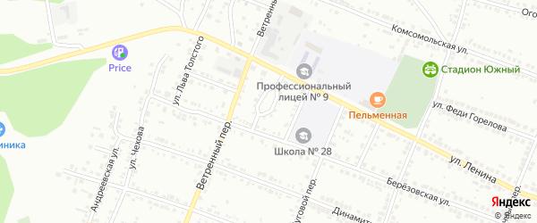 Садовый проезд на карте Миасса с номерами домов