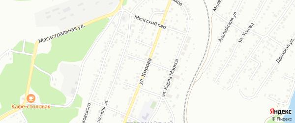 Переулок Братьев Пудовкиных на карте Миасса с номерами домов