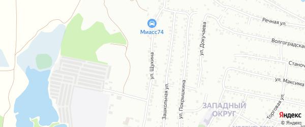 Улица Щукина на карте Миасса с номерами домов