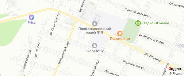 Улица Панферова на карте Миасса с номерами домов