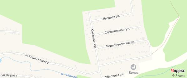 Светлый переулок на карте Черновского села с номерами домов