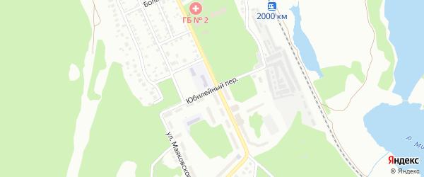 Юбилейный переулок на карте Миасса с номерами домов