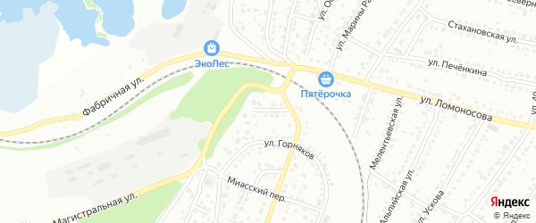 Улица Можайского на карте Миасса с номерами домов