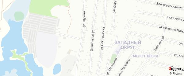 Зашкольная улица на карте Миасса с номерами домов