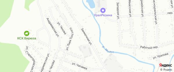 Заимочная улица на карте поселка Новотагилки с номерами домов