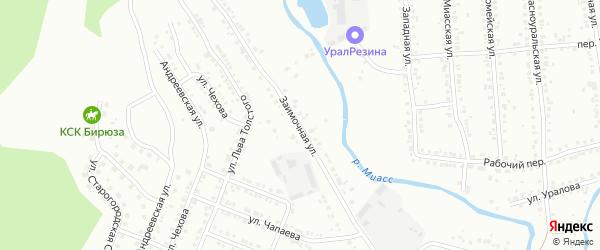 Заимочная улица на карте Миасса с номерами домов