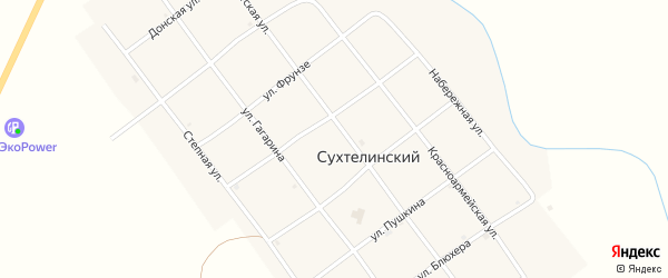 Донская улица на карте Сухтелинского поселка с номерами домов