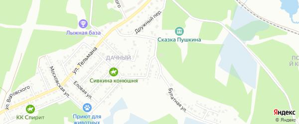 Мирная улица на карте Миасса с номерами домов