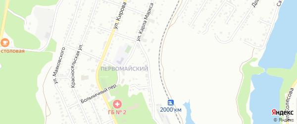 Улица Карла Маркса на карте Миасса с номерами домов