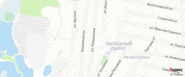 Улица Покрышкина на карте Миасса с номерами домов