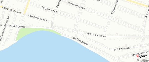 Крестьянская улица на карте Миасса с номерами домов