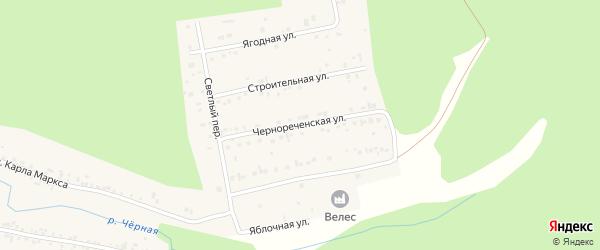 Чернореченская улица на карте Черновского села с номерами домов