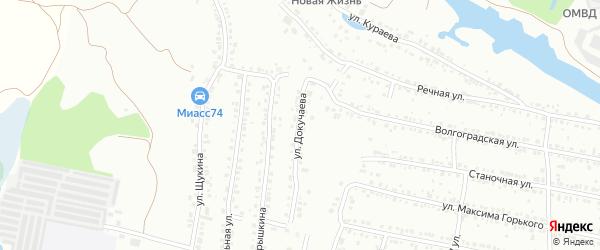 Улица Докучаева на карте Миасса с номерами домов