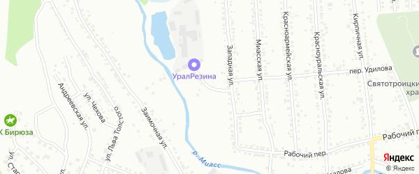 Подгорная улица на карте Миасса с номерами домов