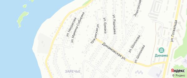 Уржумская улица на карте Миасса с номерами домов