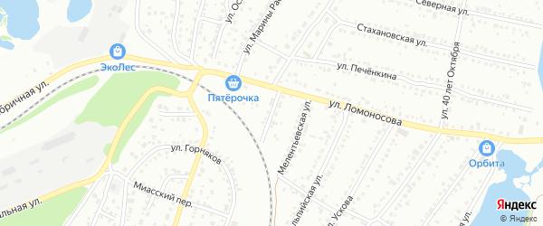 Сигнальная улица на карте Миасса с номерами домов