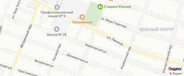 Латвийский переулок на карте Миасса с номерами домов
