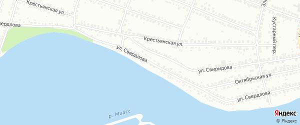 Улица Свердлова на карте Миасса с номерами домов