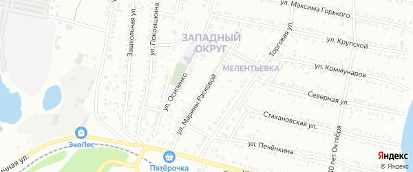 Улица Марины Расковой на карте Миасса с номерами домов
