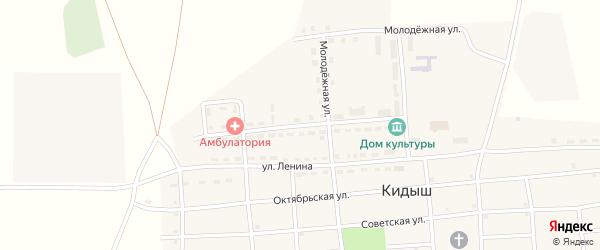 Улица Труда на карте села Кидыша с номерами домов