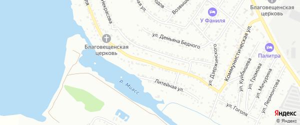 Улица Гоголя на карте Миасса с номерами домов
