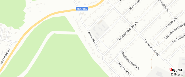 Охотная улица на карте Миасса с номерами домов