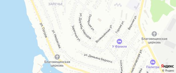 Улица Дружбы Народов на карте Миасса с номерами домов