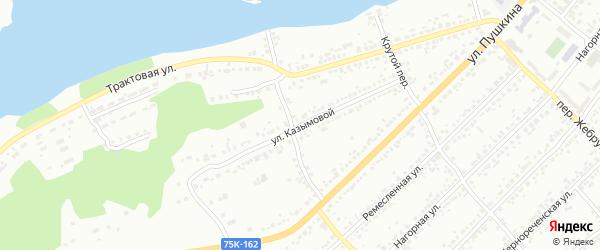 Улица Казымовой на карте Миасса с номерами домов