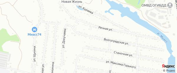 Речной переулок на карте Миасса с номерами домов