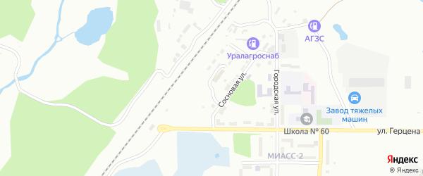 Боровая улица на карте Миасса с номерами домов