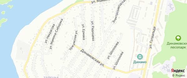 Улица Радищева на карте Миасса с номерами домов