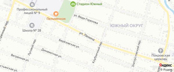 Улица Ленина на карте железнодорожной станции Хребта с номерами домов