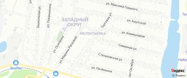Торговая улица на карте Миасса с номерами домов