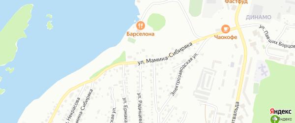 Улица Мамина-Сибиряка на карте Миасса с номерами домов