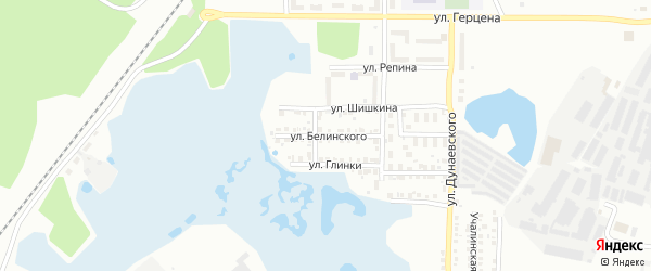 Улица Белинского на карте Миасса с номерами домов