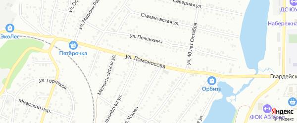 Улица Ломоносова на карте Миасса с номерами домов