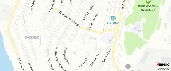 Динамовский переулок на карте Миасса с номерами домов