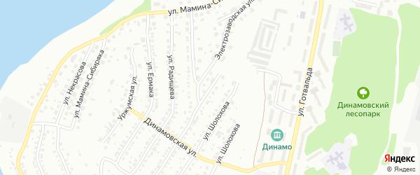 Электрозаводская улица на карте Миасса с номерами домов