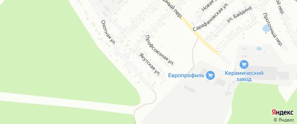 Якутская улица на карте Миасса с номерами домов
