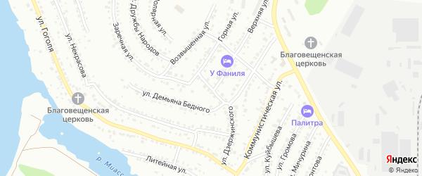 Улица Чайковского на карте Миасса с номерами домов