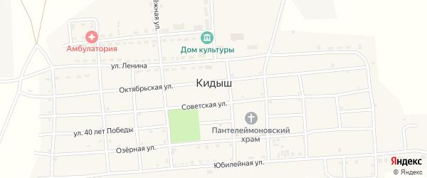 Набережная улица на карте села Кидыша с номерами домов