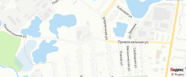 Привокзальная улица на карте Миасса с номерами домов